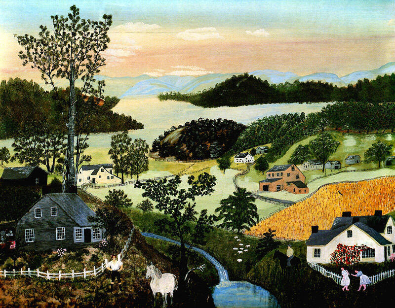 Robertson Moses, Anna Mary (Grandma Moses) A-beautiful-world-1948