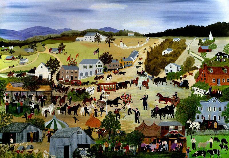 Robertson Moses, Anna Mary (Grandma Moses) Country-fair-1950