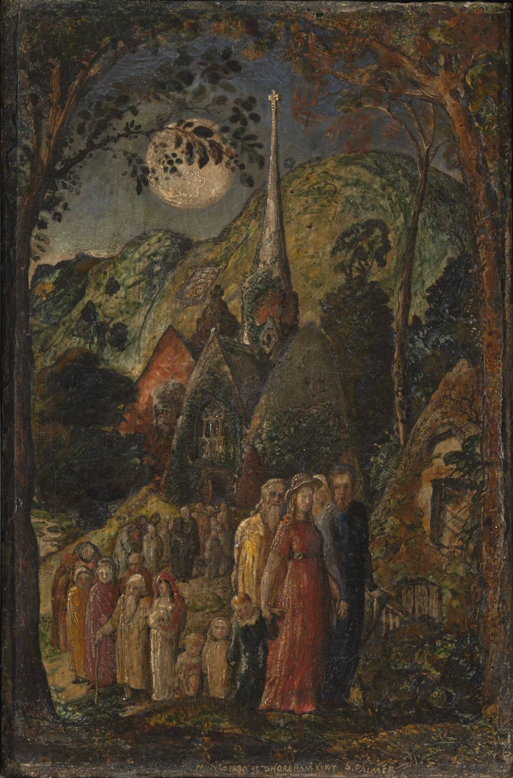 Samuel Palmer Coming from Evening Church 1830