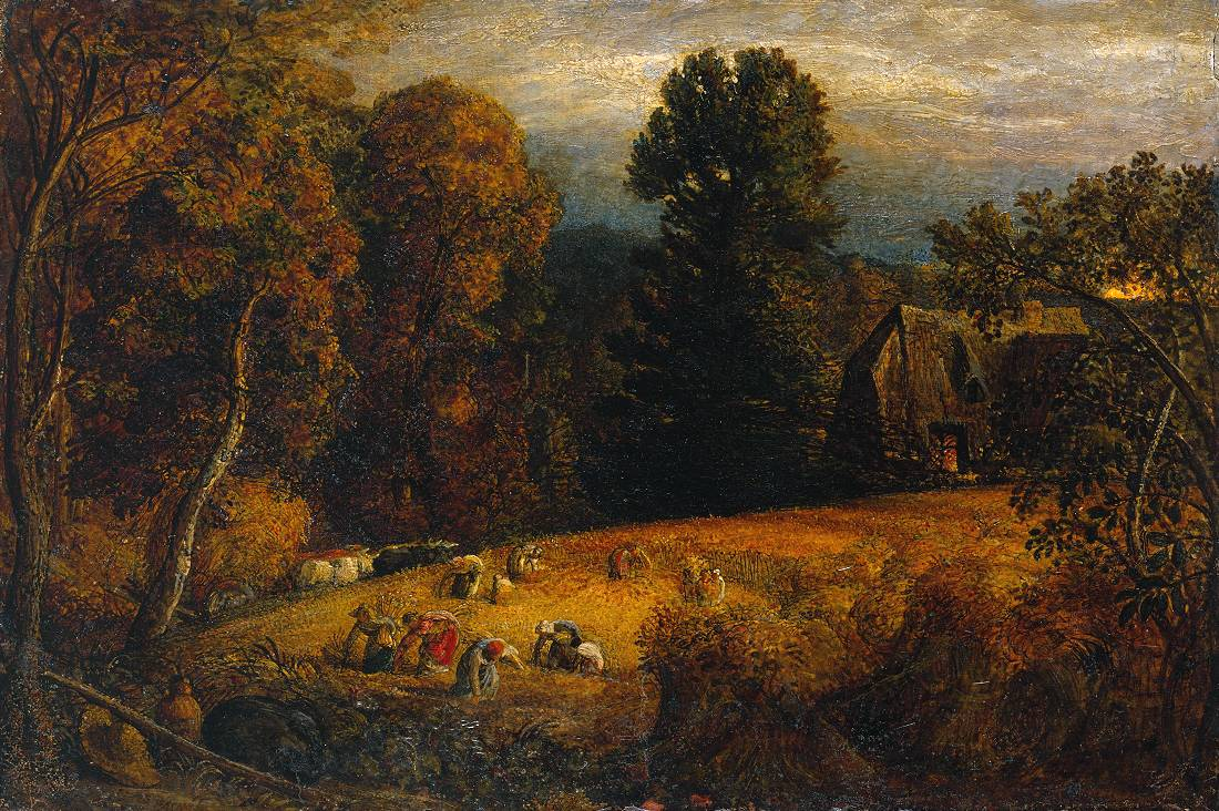 Samuel Palmer The Gleaning Field c.1833