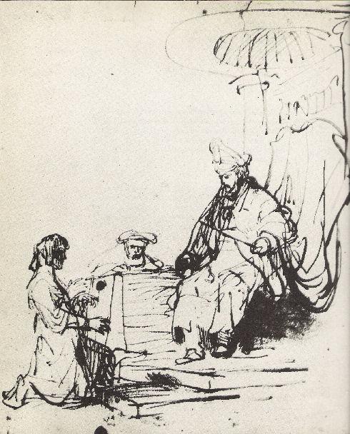 Rembrandt En De Engelen-12-Saul En David