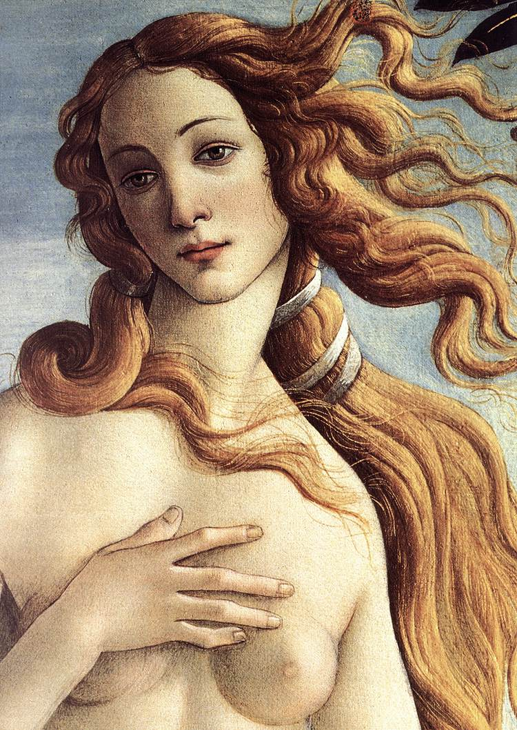 Sandro Botticelli The Birth of Venus (detail)
