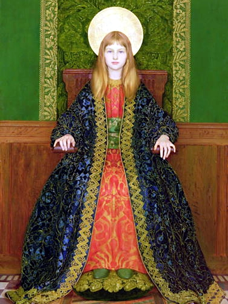 Thomas Cooper Gotch The Child Enthroned 1894