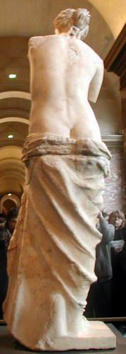 Venus van Milo, achterkant