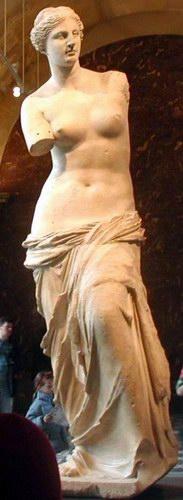 Venus van Milo, voorkant