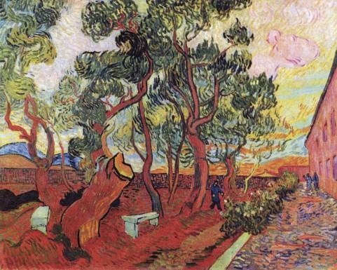 Vincent Vincent van Gogh - Le Jardin De L Asile De Saint-Remy 1889