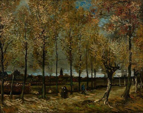 Vincent van Gogh - De populierenlaan bij Nuenen