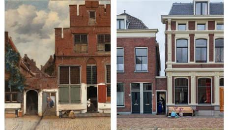 Het Straatje van Vermeer Vlamingstraat 40-42 te Delft