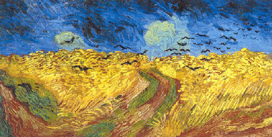 Vincent van Gogh Korenveld met kraaien