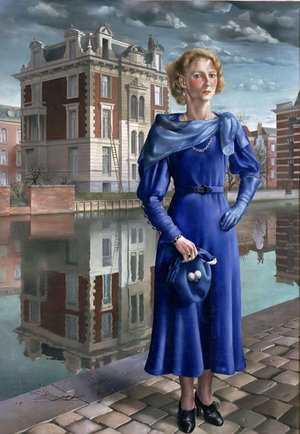 Wilma (1932), Stadhouderskade met uitzicht op huis op Weteringschans 18 (schilderij)