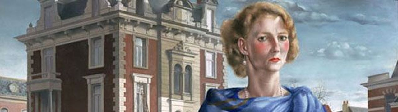 Wilma (1932), Stadhouderskade met uitzicht op huis op Weteringschans 18 detail (schilderij)
