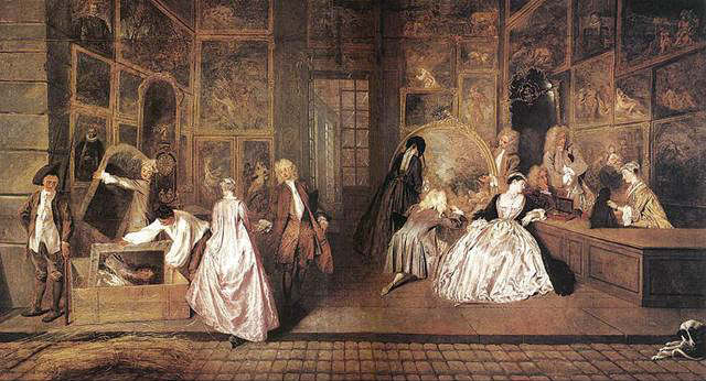 Antoine Watteau l'enseigne de gersaint