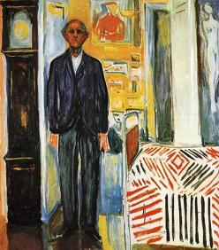 Edvard Munch Tussen de klok en het bed