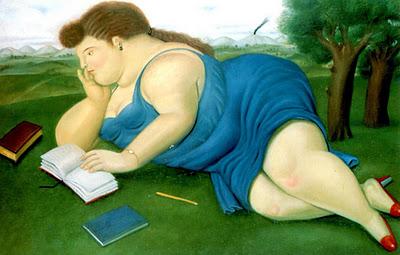 fernando botero lezende vrouw