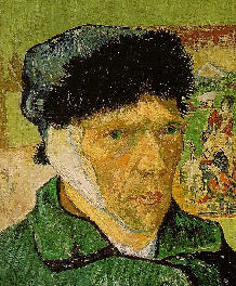 Vincent van Gogh Zelfportret zonder afgesneden oor