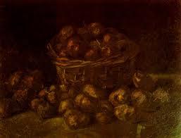 Vincent van Gogh Mand met aardappelen