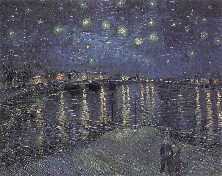 Vincent van Gogh Starry Night, La nuit etoilee, Sterrennacht boven de Rhone
