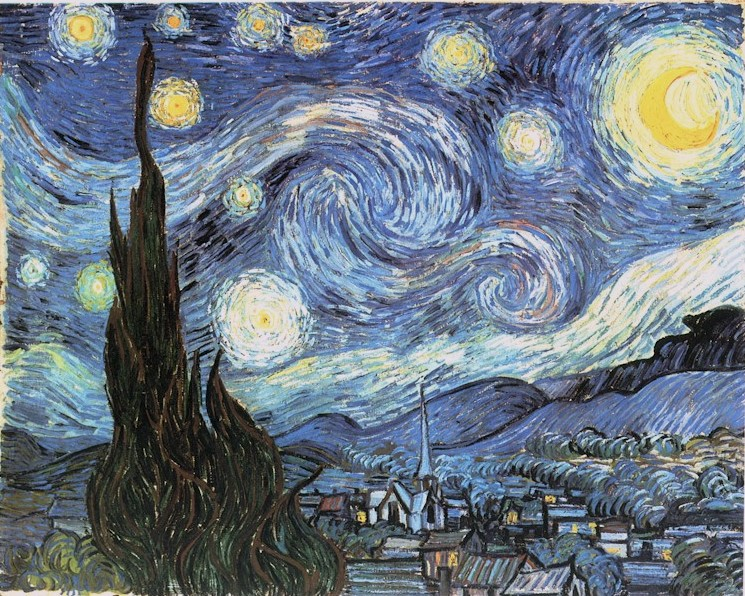 Vincent van Gogh Sterrennacht