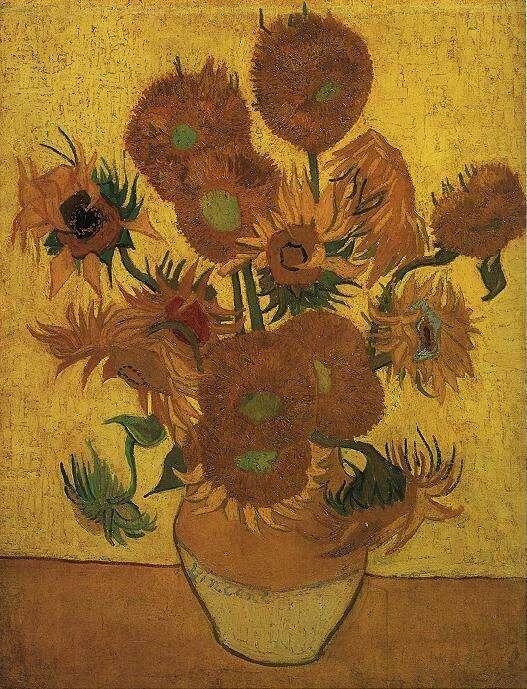 Vincent van Gogh Vaas met 15 zonnebloemen