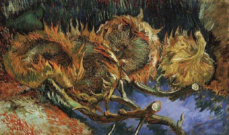 Vincent van Gogh Vier zonnebloemen
