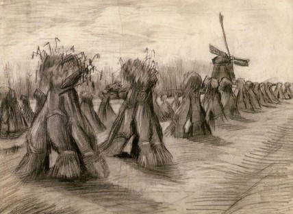 Vincent van Gogh akkers bij Nuenen