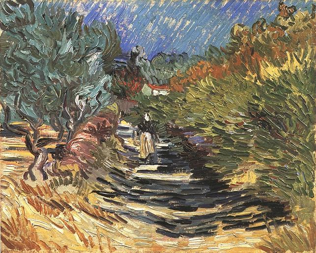 Vincent van Gogh De weg bij St Remy