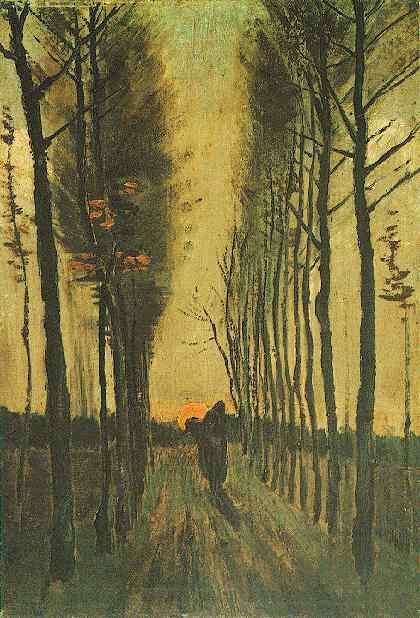 Gogh Vincent van Nuenen Weg met populieren Nuenen