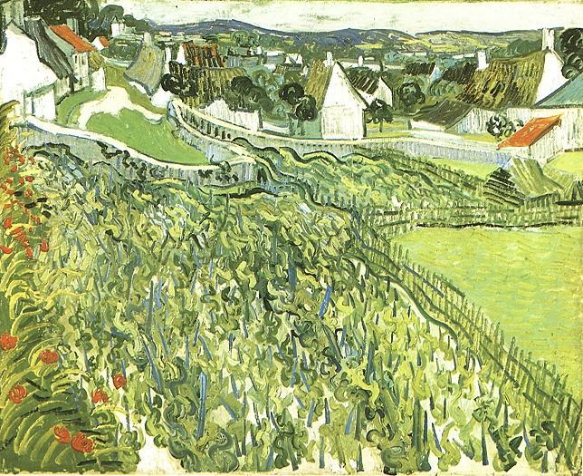 Vincent van Gogh Wijngaard bij Auvers