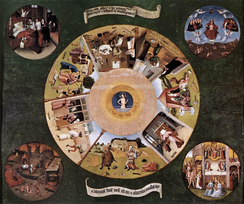 Jeroen Bosch Zeven zonden c.1480