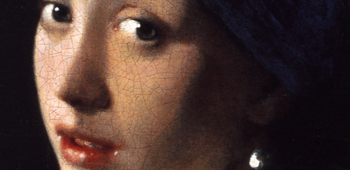 Johannes Vermeer Girl with the pearl earring detail