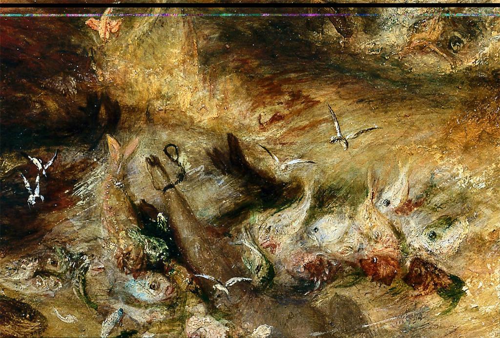 Joseph Mallord William Turner The Slave-ship detail