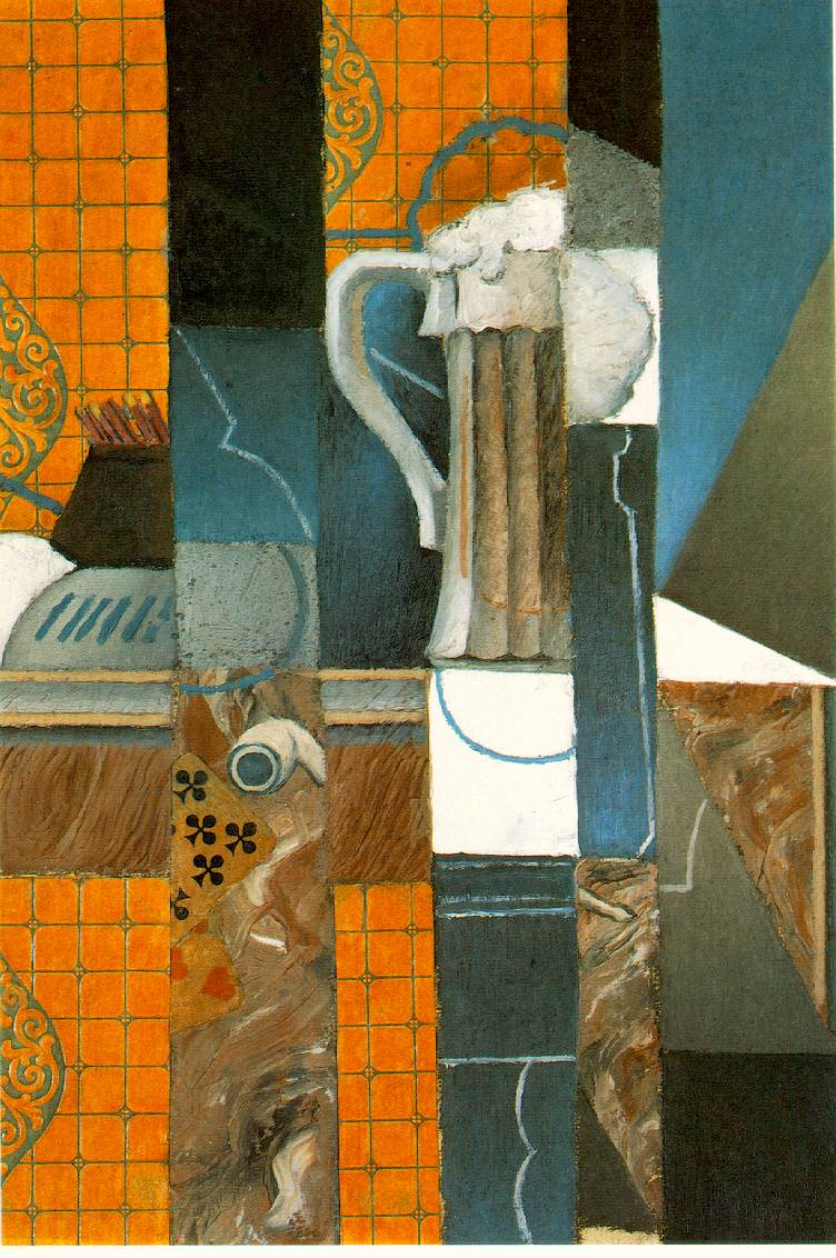 Juan Gris Glass of Beer and Playing Cards1913