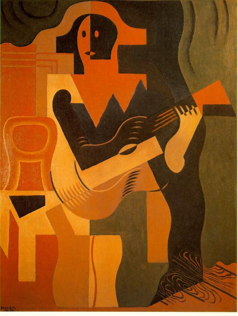 Juan Gris Harlequin with Guitar 1919