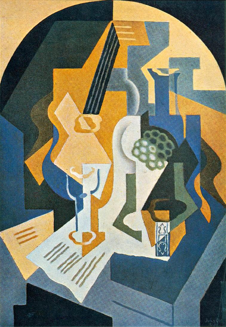 Juan Gris Still Life with Fruit Dish and Mandolin 1919