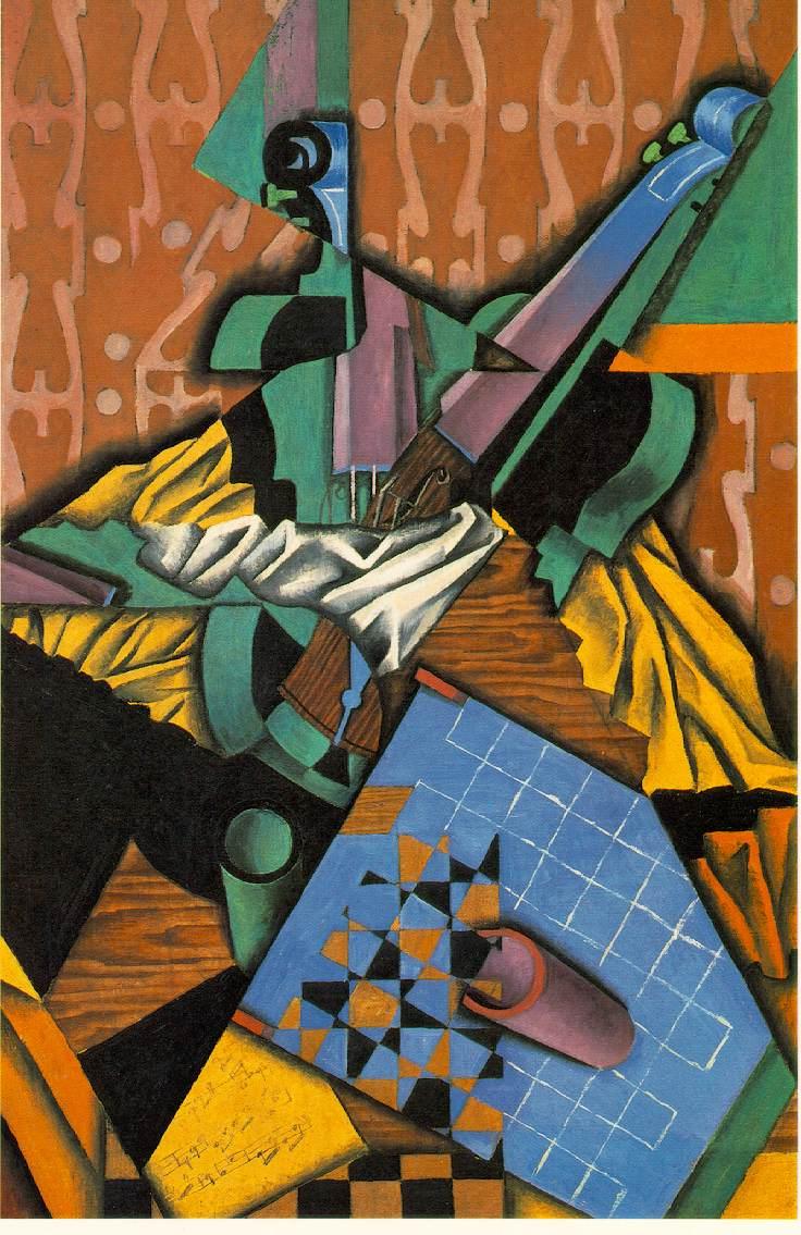 Juan Gris Violin and Checkerboard