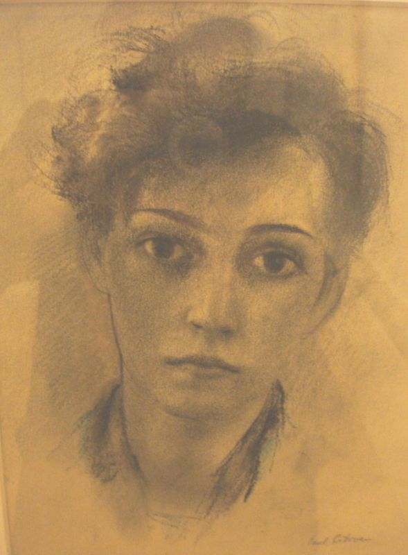 Paul Citroen portret van Lotti Weiss