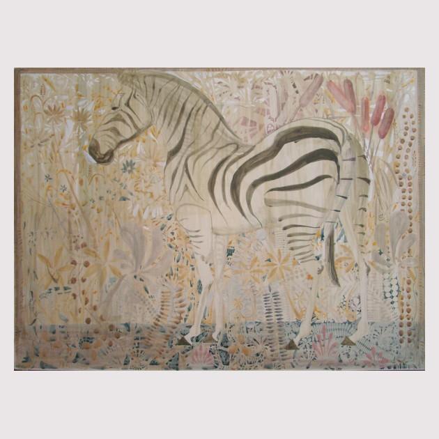 Tengiz Tcholokava Zebra 90x110 tempera on cardboard 2007
