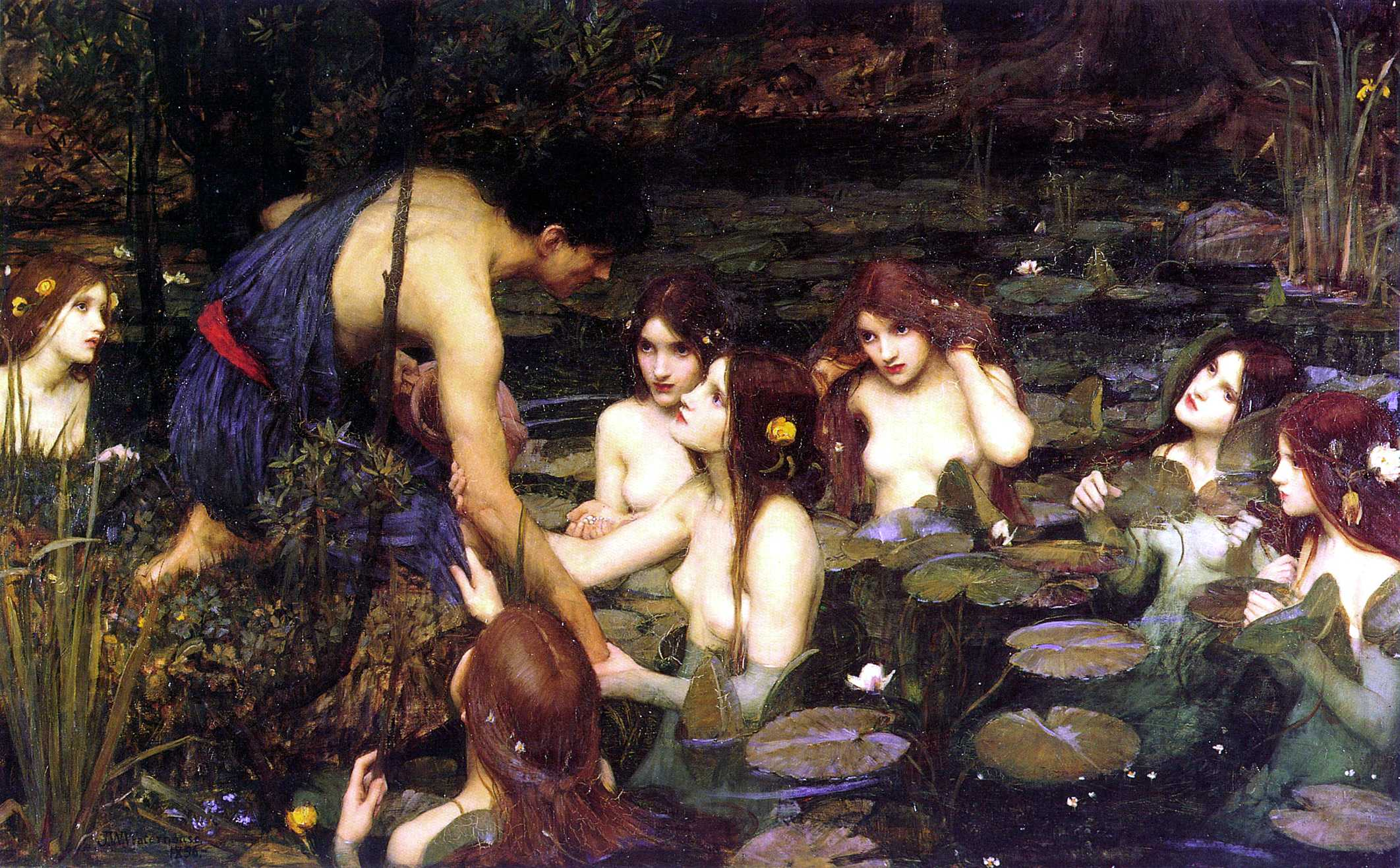 Waterhouse_Hylas_and_the_Nymphs_Manchester_Art_Gallery_1896