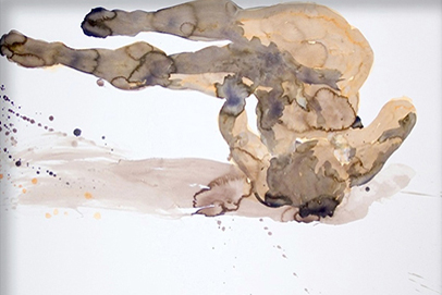 eric fischl Tumbling-Woman-Watercolour